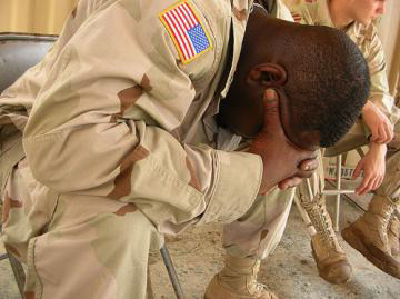 Many soldiers suffer from PTSD