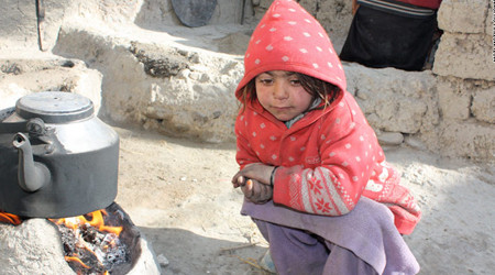Children in Kabul die of cold