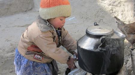 Children in Kabul die of cold