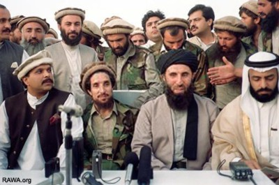 Ahmad Shah Masoud and Gulbuddin Hekmatyar