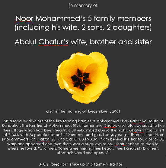 In memory of Noor Mohammad's family