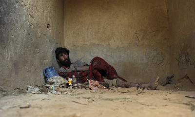 Mentally ill chained in Nangarhar Afghanistan