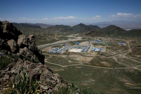 Mes Aynak mine in Logar province, Afghanistan