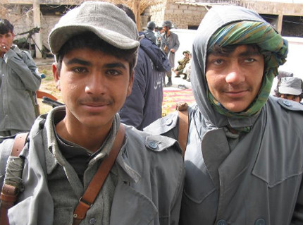 Minor Afghan Soldiers