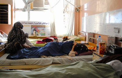 The women's ward at Mirwais regional hospital in Kandahar city