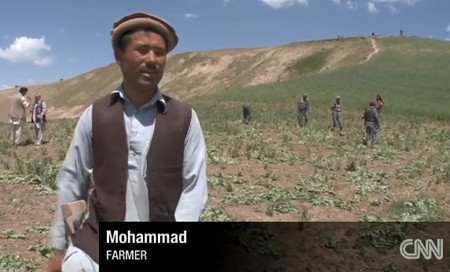 Mohammad a farmer who grows opium in Badakhshan