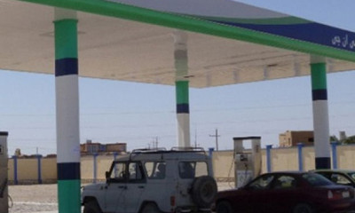 Petrol station in Sheberghan, Afghanistan that cost American taxpayers 43m