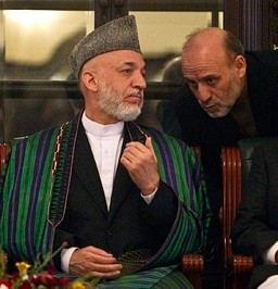 Umer Daudzai next to Karzai