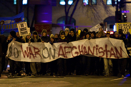 Protest against war in Afghanistan