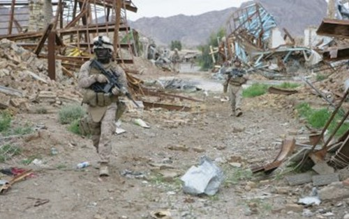 The scene in Now Zad, Helmand, after U.S. Marines arrived
