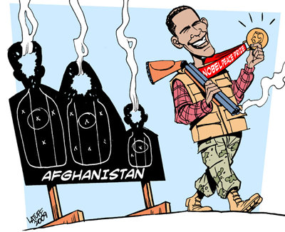Cartoon - Obama Peace Prize