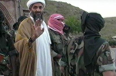 Osama Bin Laden with Al Qaeda members