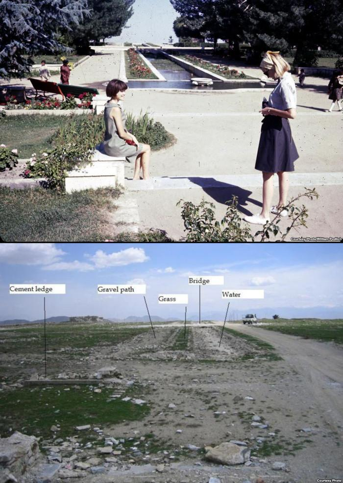 Paghman scenery before and after war