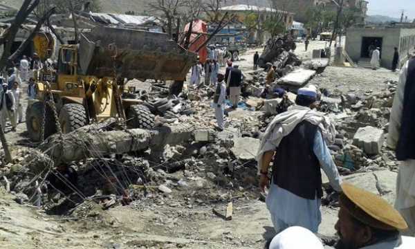 Paktika, eastern Afghanistan market blast that killed dozens in July 2014
