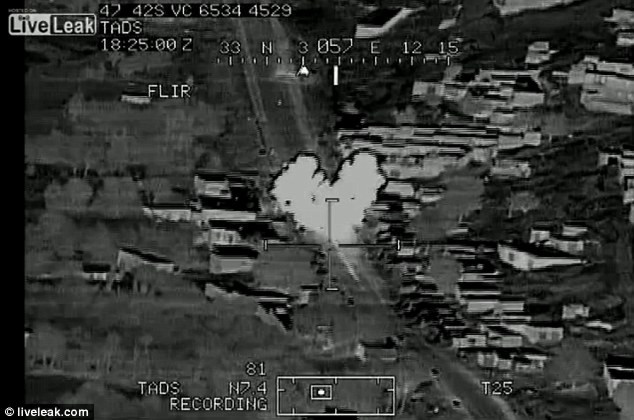 The missile hit was recorded on camera, along with the pilot's cheerful rendition of American Pie