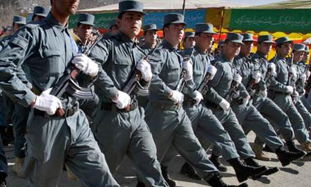 Afghan police graduate in Kabul