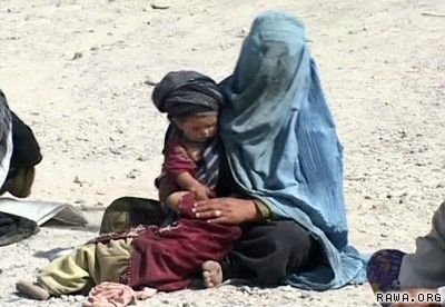 Afghan mothers and children suffer