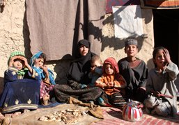 Poverty hits over 37 percent of Afghan people.