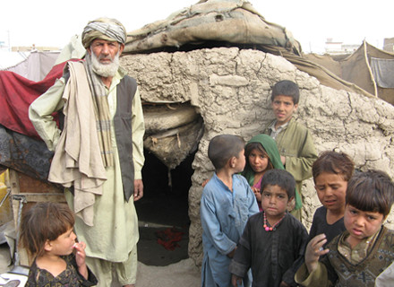 Poor family in Afghanistan