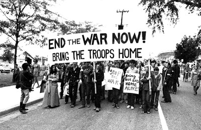 Protest against Vietnam War in US