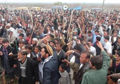 People of Charikar protest killing of 3 civilians by gunmen on New Year