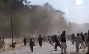 Afghans attack Spanish base