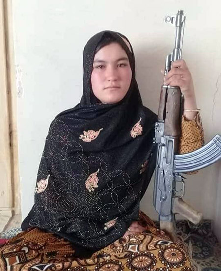 Qamar Gul, who killed the Taliban when they stormed her home in a remote village in Ghor