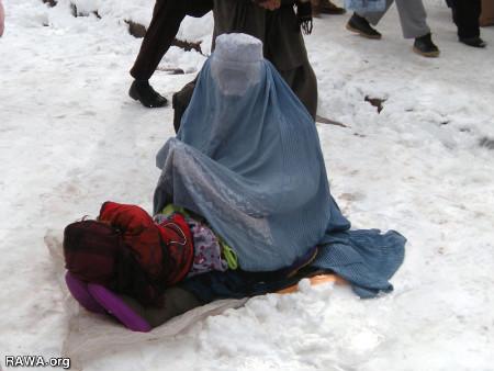 RAWA photos of Kabul snowfall