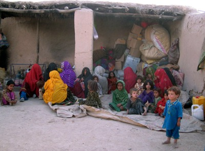 Refugees who have returned to Takhar