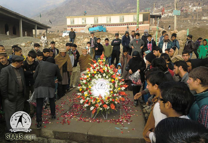 Following the rally, all participants went to the mass grave site in Afshar area in west of Kabul to pay tribute to hundreds of victims who were massacred in February 1993 during fundamentalists' infighting