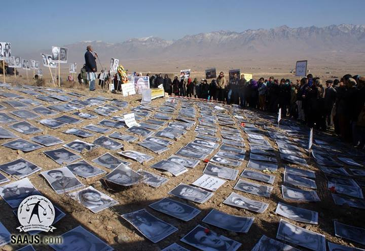SAAJS organized a memorial event in Polygon killing ground of Pul-e-Charkhi prison in Kabul, where tens of thousands of innocent Afghan were brutally massacred and buried in mass-graves by Russian puppet regime