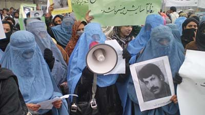 Hundreds of women protest in Kabul