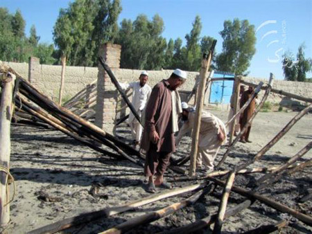 Suspected militants stormed and burned a girl's school in Nangarhar