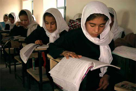 Schoolgirls in Afghanistan