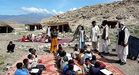 A school on the Afghanistan/Pakistan border
