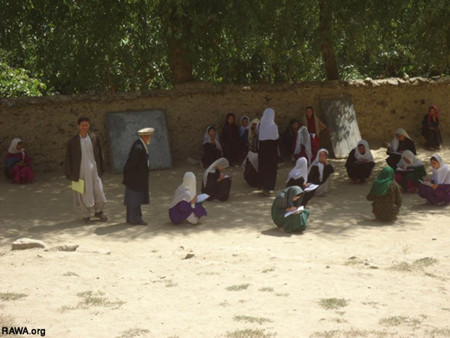 A school in Badakhshan with no chairs and tables