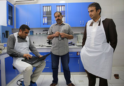Scientists at the Forensic Medicine Directorate in Kabul, Afghanistan's only functioning forensic laboratory