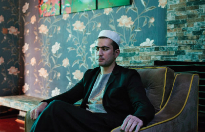 Contractor-turned-philanthropist Shadman in his Kabul office