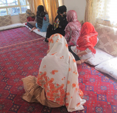 A private women's shelter in Afghanistan is shown