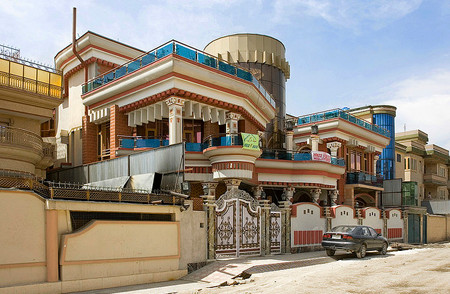Sherpur is the famous/infamous neighbourhood in Kabul that once was covered with the low mudbrick buildings of the poorest, and now has become the neighbourhood of the richest