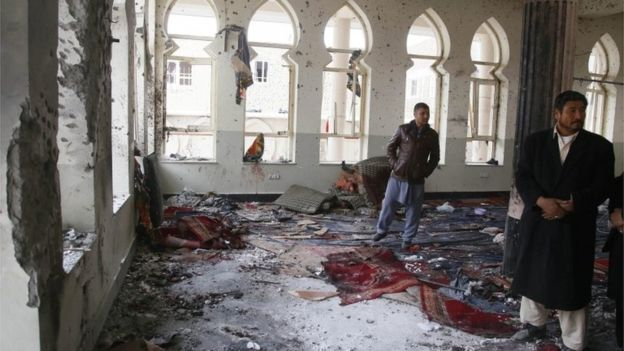 Shia mosque attack in Kabul, Afghanistan on Nov 21, 2016
