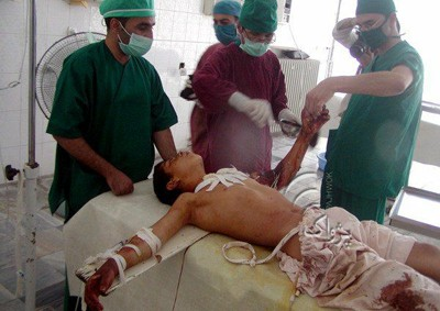 NATO victim in a Herat hospital