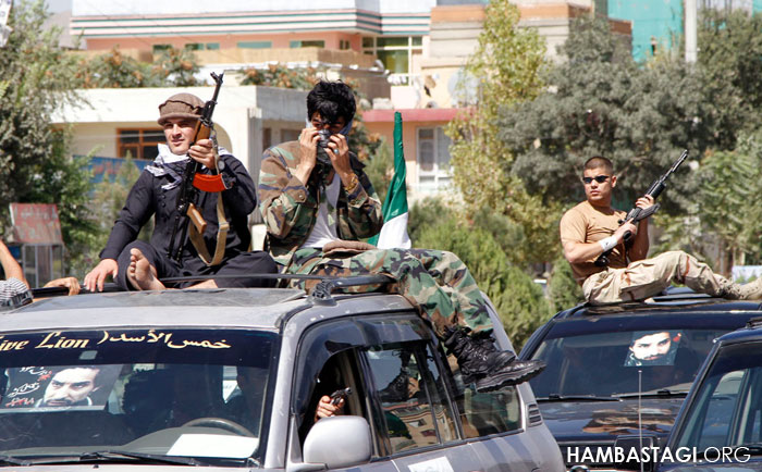 Shorae Nezar gunmen celebrating Ahmad Shah Massoud death anniversary September 2015