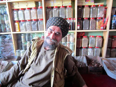 J. K. Sharma, a Sikh magician at his shop in Shor Bazaar in Kabul, Afghanistan