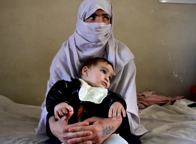 Soheila, with her child, is imprisoned in Afghanistan