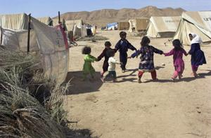 Sosmaqala Internally Displaced Persons (IDP) Camp in northern Afghanistan
