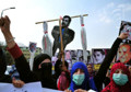 Hundreds of protestors from Solidarity Party of Afghanistan demand prosecution of war criminals