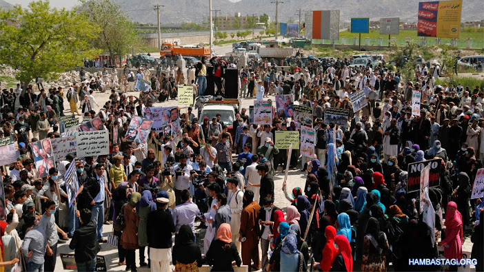 A thousand people from the Solidarity Party of Afghanistan took to the streets of Kabul to condemn the criminals of the past decades