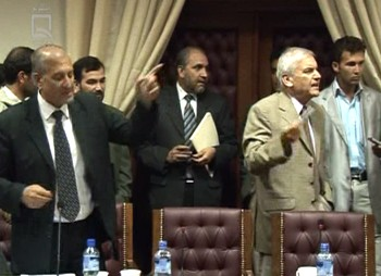 Quarrel between Amin Farhang and Stanakzai.
