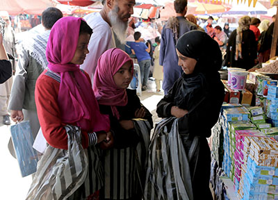 Children working as street hawkers at a bazaar in western Kabul say their biggest fears are terrorist attacks where they work and kidnappings